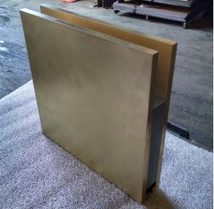 Newly fabricated bronze stringer