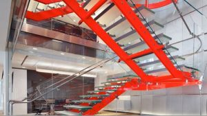 corporate headquaters feature stair